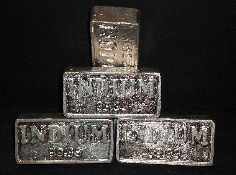 インジウム金属の塊
